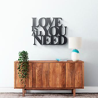 Metal Wall Art - Love Is All You Need