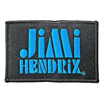 Jimi Hendrix Patch Stencil Logo new Official Black Iron On