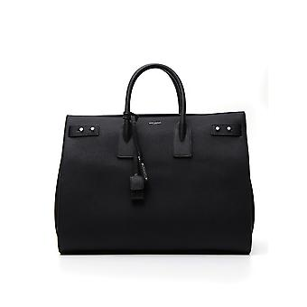 Saint Laurent 478167dti0e1000 Men's Black Leather Briefcase
