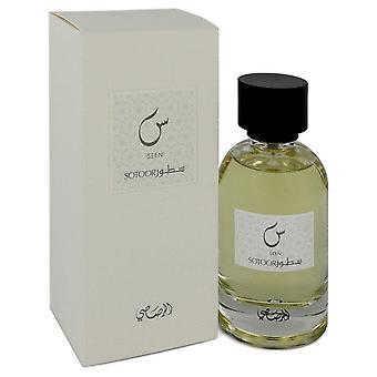 Sotoor Seen Eau De Parfum Spray By Rasasi 3.33 oz Eau De Parfum Spray