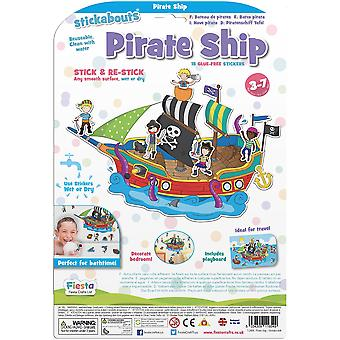 Fiesta Crafts Stickabouts Pirate Ship