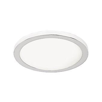 Lampada a Soffitto Lena Color Cromo in Metallo, Vetro 40x40x8 cm