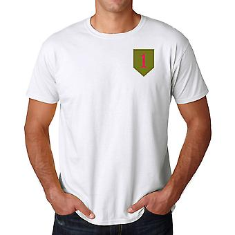 L'armée américaine 1re Division d'infanterie brodé Logo - coton Ringspun T Shirt