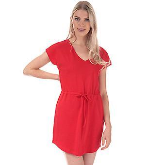 Women's Jacqueline de Yong Pastel Life V-Neck Dress in Red