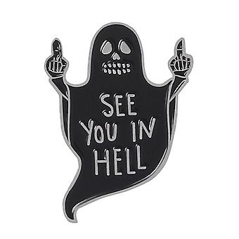 Attitude Clothing See You In Hell Enamel Pin