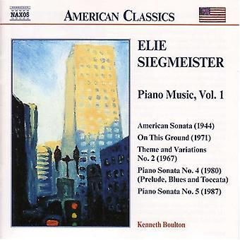 E. Siegmeister - Elie Siegmeister: Piano Music [CD] USA import