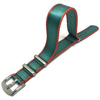 N.a.t.o zulu g10 correa de reloj estilo verde / naranja tela del cinturón de seguridad de alta calidad hebilla de lujo