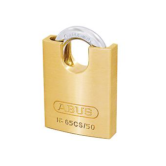 ABUS 65CS/50mm Brass Padlock Closed Shackle Carded ABU6550CSC