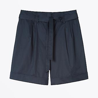 PS Paul Smith  - Poplin Stretch Shorts With Belt - Navy