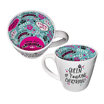 Two Up Two Down Inside Out Mug - Queen Of Everything