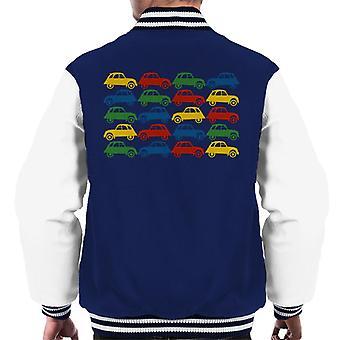 Citro n 2CV Vintage Multi Colour Pattern Men's Varsity Jacket