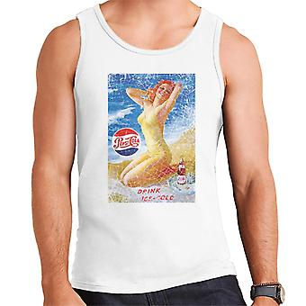 Pepsi Cola Beach Lady Distressed Men's Vest