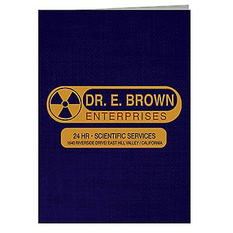 Back To The Future Dr E Brown Enterprises 24hr Scientific Services Greeting Card