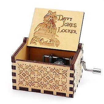 תיבת מוסיקה זעירה מגולפת ביד עץ