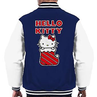 Hello Kitty I Julen Strømpe Menn's Varsity Jakke