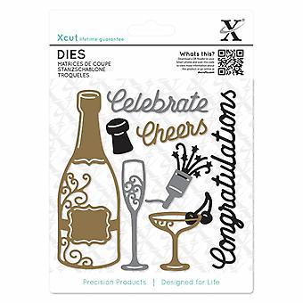 Xcut Dies (10PCS)-Champagne Celebration (XCU 503284)