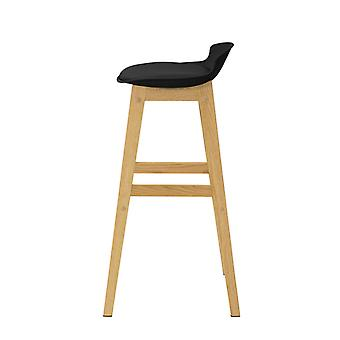 SoBuy FST79-SCH, Kitchen Breakfast Barstool, Bar Stool con PP & PU Padded Seat e Oak Wood Legs
