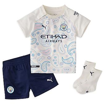 Puma Manchester City 2020/21 Infant Kids Baby Third Football Kit White