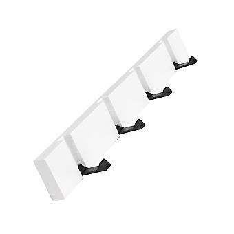 tre vegg folding frakk krok hvit 4 kroker 50x5.5cm