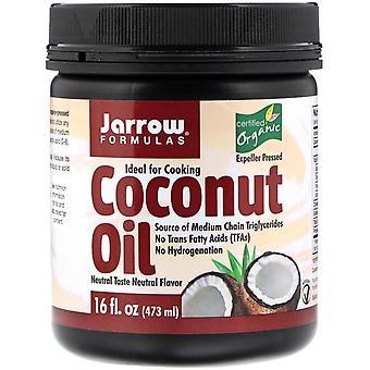 Jarrow Formulas, Organic Coconut Oil, Expeller Pressed, 16 fl oz (473 g)