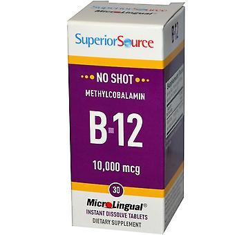 Superior Source, Methylcobalamin B-12, 10,000 mcg, 30 MicroLingual Instant Disso