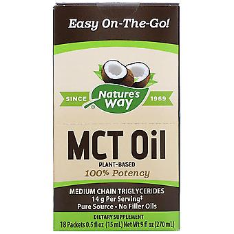 Nature's Way, MCT Oil, 18 Packets, 0.5 fl oz (15 ml) Each