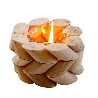 Wooden Twist Shaped Incense Candle Holder Home Decor