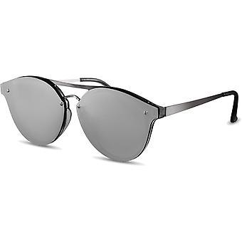 Sunglasses Unisex panto silver (CWI1920)