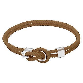 Rochet B3204031 pulsera - NAVIGATRICE acero y cordón algodón camello mujeres