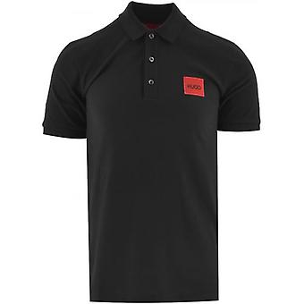 HUGO Black Dereso Square Logo Polo