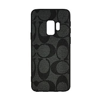 Phone Case Shockproof Cover Monogram GG For Samsung S9+ (Dark Grey)
