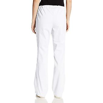 Cherokee Women's Workwear Core Stretch Drawstring Cargo Scrubs Pant, White, M...