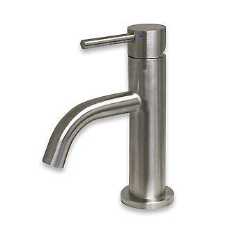 Waterhaus acero inoxidable sólido, grifo de lavabo pequeño de una sola palanca - acero inoxidable cepillado
