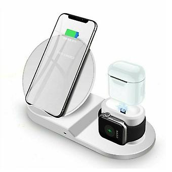 Zikko Zw8005 Smart Wireless Charger Charging Station 3in1 For Apple Watch / Iphone 11 / Airpods / Sumsung