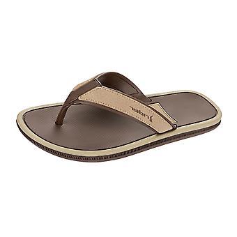 Rider Majorca Mens Flip Flops / Sandals - Brown Beige