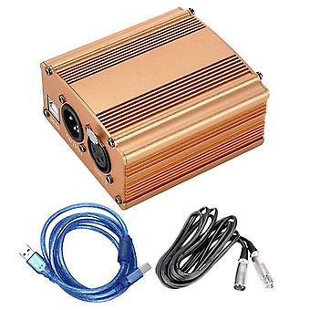 Dc5v-phantom Power Supply, Usb 2.0 Mini Microphone Condenser- Recording