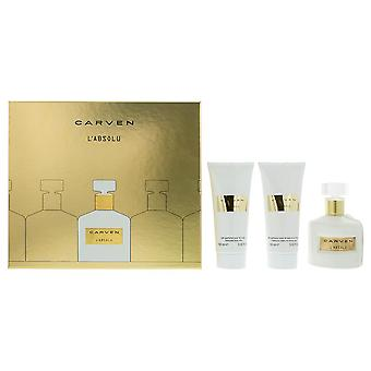 Carven L'Absolu Eau de Parfum 100ml, Shower Gel & Body Milk Gift Set For Her