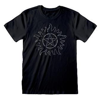 Supernatural Unisex Adult Tekst T-Shirt