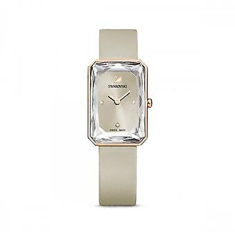Swarovski Uptown Watch Leather Strap Grey Rose Gold-tone Watch 5547716