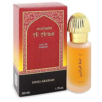 Mukhalat al arais eau de parfum spray por swiss arabian 50 ml
