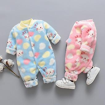 Kombinezon dla noworodków, Kreskówka Polar Zwierząt Ciepły Kombinezon Romper i miękka piżama