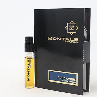 Aoud Ambre by Montale Paris Eau De Parfum Vial 0.07oz/2ml Spray New