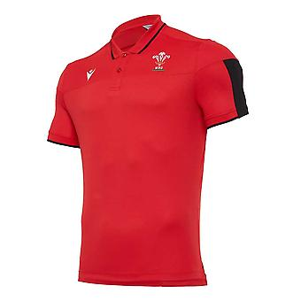 2020-2021 Wales Travel Tech Polo Camisa (Rojo)