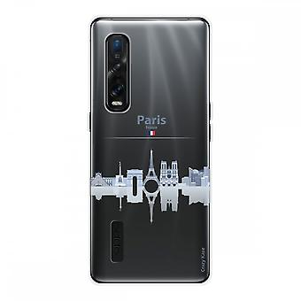 Hull For Oppo Find X2 Pro In Silicone Flexible 1 Mm, Monuments De Paris
