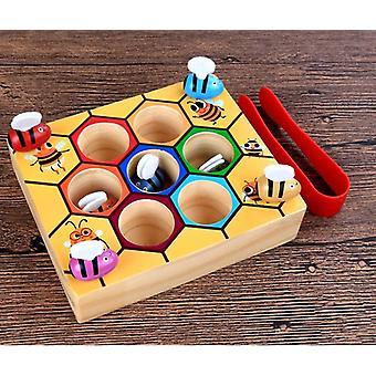 Montessori Edukacyjne Pracowite Małe Pszczoły Dzieci Drewniane Zabawki,