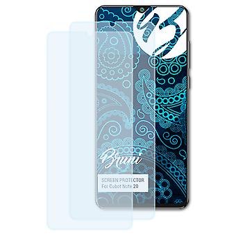 Bruni 2x Screen Protector compatible with Cubot Note 20 Protective Film