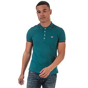 Men's Diesel T-Randy New Polo Shirt in Green