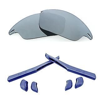 Replacement Lenses & Kit for Oakley Fast Jacket Silver Mirror & Navy Blue Anti-Scratch Anti-Glare UV400 by SeekOptics