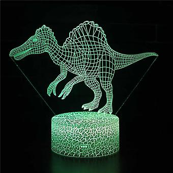Child gift 3D Touch Light Night 7 colors remote control - Dinosaur #35