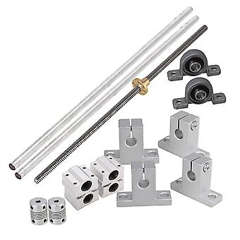 Bearing 8mm Lead Rod 30cm Optical Axis Rail Slide Coupler Horizontal Set